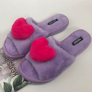 Kensie House Slippers Purple Heart Memory Foam